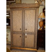 Ornate TV Armoire