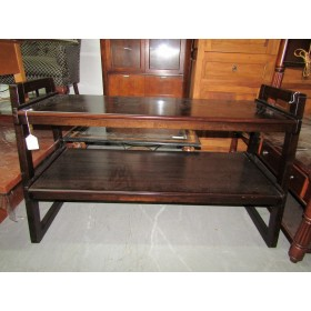 Two Tier Dark Wood TV Console