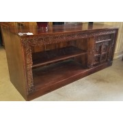 Carved Wood TV Stand