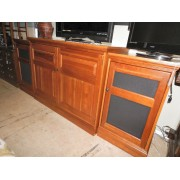 Hooker - Three Piece Hydraulic TV Lift Cabinet