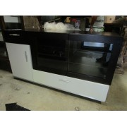 Two Piece Black / White TV Stand