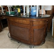 Wood / Woven Marble Top Bar