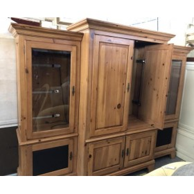 Three Piece Pine Entertainment Center