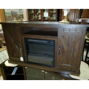 Wood TV Stand / Fireplace