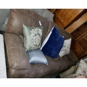 Brown Microfiber Reclining Sofa