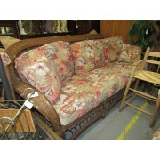 Wicker Sofa / Two Chairs & Ottoman