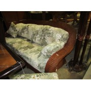 Rattan / Tropical Style Sofa - Chair & Ottoman