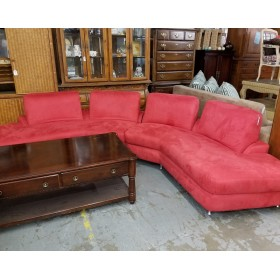 Modern - Two Piece Red Sectional