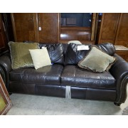 Bernhardt - Brown Leather Sleeper Sofa