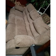 Beige Fabric / Reclining Sofa
