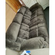 Kaki/Brown Sofa