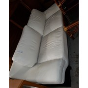 White Leather Sofa & Loveseat