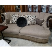 Camel Sofa With Fringe