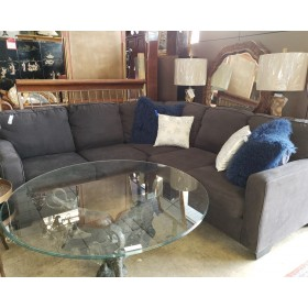 Two Piece Charcoal Sectional