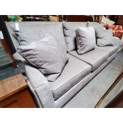 Kincaid - Grey Studded Sofa