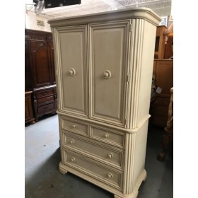 Stanley - White Two Door / Four Drawer Armoire