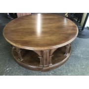 Habersham Round Wood Coffee Table