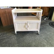 Small Wicker Microwave Cart