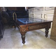 Ethan Allen Mahogany Metal / Glass Coffee Table