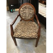 Brown / Tiger Striped Chair