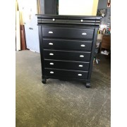 Black Seven Drawer Chest