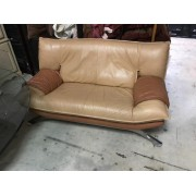 Two Tone Leather Loveseat