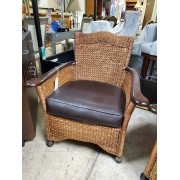 Brown / Wicker Woven Chair