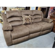 Kunkle Brown Reclining Sofa