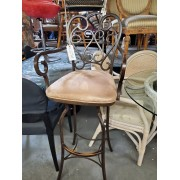Brown / Metal Bar Stool