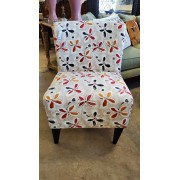 Cream / Floral Armless Chair