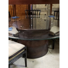 Elephant Pedestal Table With Glass Top