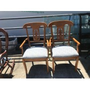 Set Of Two Wood / Pineapple Chairs