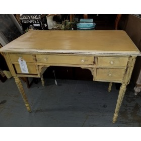 Yellow Wood Desk