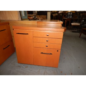 Wood Curved File Cabinet