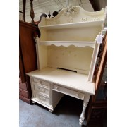 Cream Desk With Hutch Top