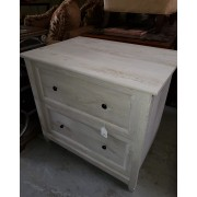 Rustic / Grey Two Drawer File Cabinet