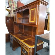 Two Tone Desk With Hutch