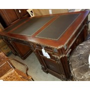 Large Leather Inlay Desk