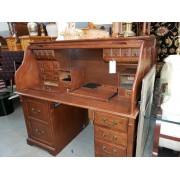 Dark Wood / Roll Top Desk
