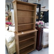 Pine Two Piece Bookcase