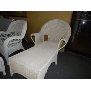 White Wicker Lounge Chair