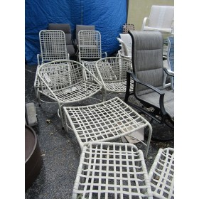 Two Patio Loungers - Two Chairs & Ottomans