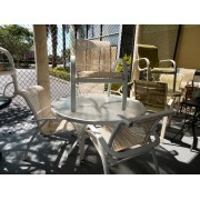 Cream Patio Table With Four Chairs