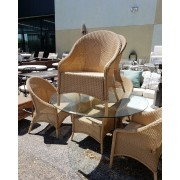 Wicker Patio Table With Six Chairs