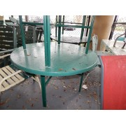 Green Patio Table / Four Chairs