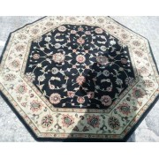 Black / Green / Red Octagon Rug
