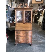 Mahogany Secretary Desk - 2 Doors / 4 Drawers