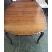 Ethan Allen Wood Table With Two Leaves