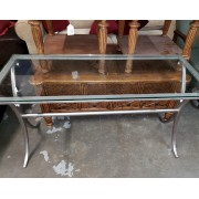 Silver / Glass Sofa Table