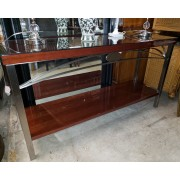 Brown Lacquer Sofa Table